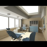 dentist interior 3d max