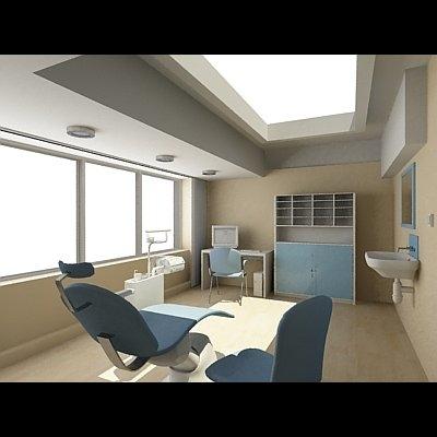 dentist interior 3d max