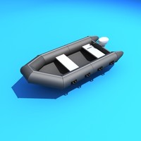 3d zodiac inflatable boat model
