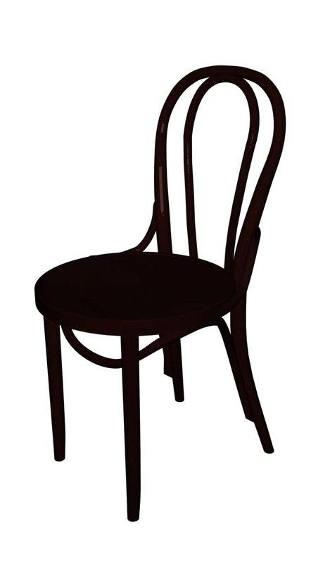 thonet chair 14 3d model