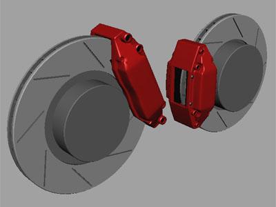 generic brakes 3d max