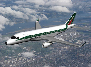 plane embraer 170 alitalia 3d model