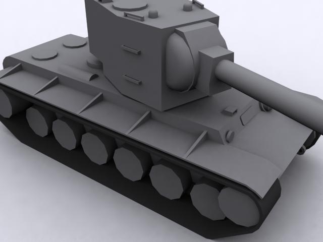 soviet kv-2 tank 3d obj