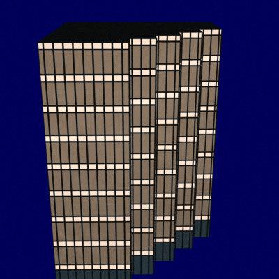 glass office building 3d lwo