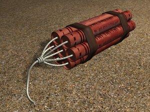 sticks dynamite explosive 3d max