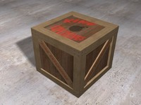 3d crate explosive sticks model