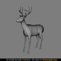 3d deer real time
