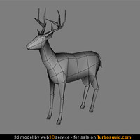 maya deer real time
