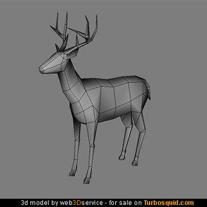 maya deer real time