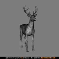Deer 3d model 1354 triangles