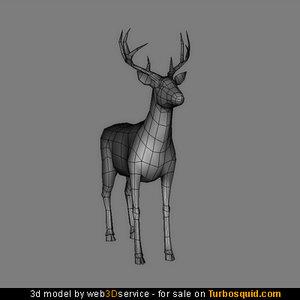 deer real time 3d model