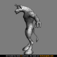 Minotaur 3d model 2510 triangles