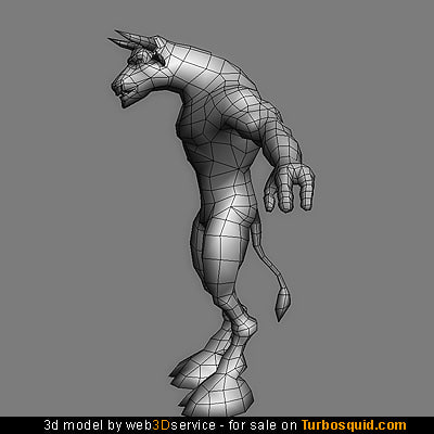 minotaur 2510 triangles modeled 3d model