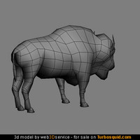 Bison 3d model 1012 triangles