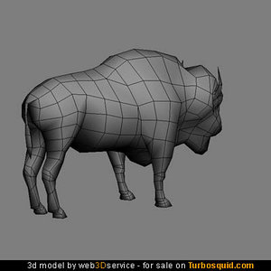 bison 1012 triangles 3d model