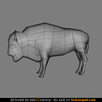 Bison 3d model 664 triangles