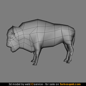 3ds max bison 664 triangles