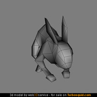 Rabbit 3d model 324 triangles