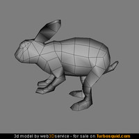 Rabbit 3d model 576 triangles