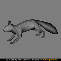 squirrel polygonal real 3d model