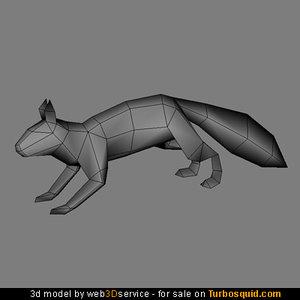 squirrel polygonal real 3d model
