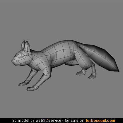 3d real time squirrel model