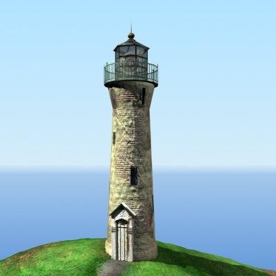 lighthouse polys 3d model