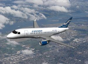 3d model embraer 170 finnair plane