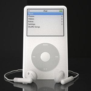 apple ipod video 5th 3d model