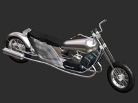 3d bike chopper antique model