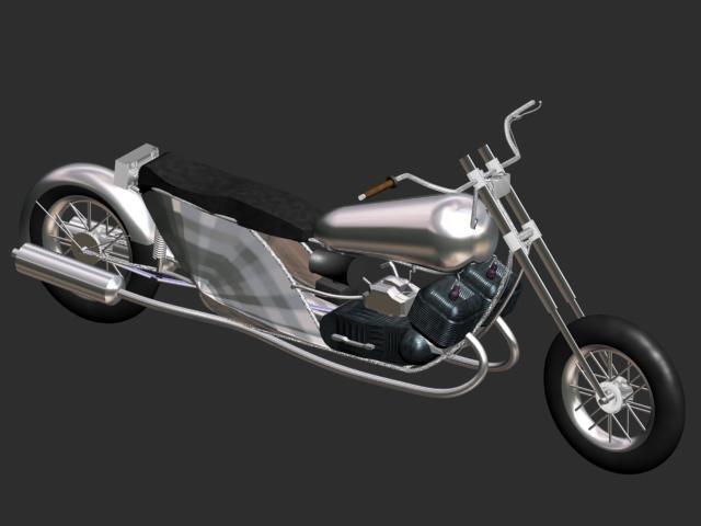 3d bike chopper antique model