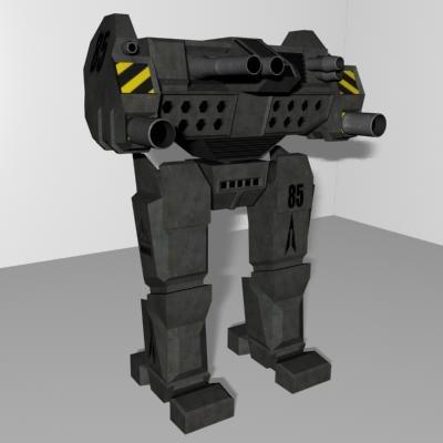 free mechwarrior mech 3d model