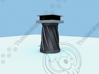 3d model chimney pot