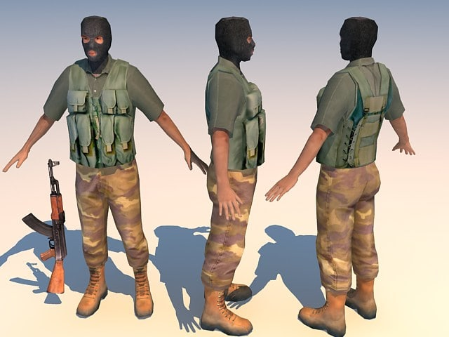 3d iraq terrorist character