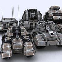 sci-fi tanks 3d 3ds