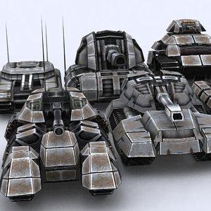 sci-fi tanks 3d 3ds
