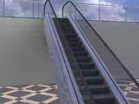 3dsmax parametric escalator
