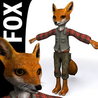 3d model of fox character