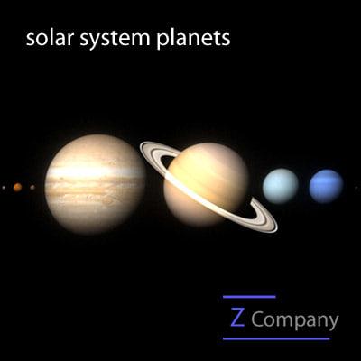 3d solar planets mercury venus model