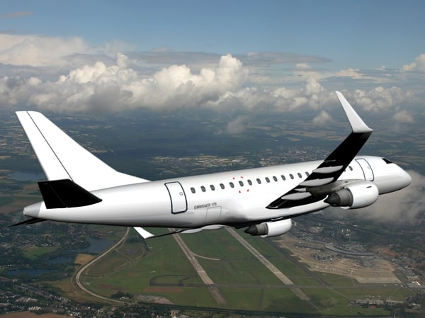 3ds max embraer 175 plane texturing