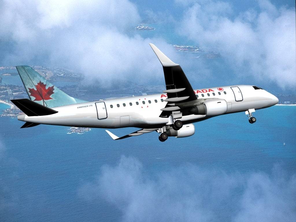 plane embraer 175 air canada 3d model