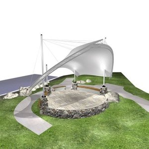 bandshell 3d model