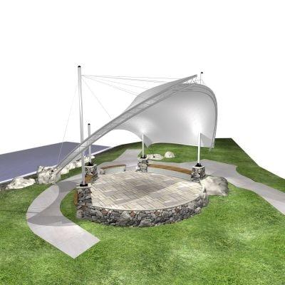 bandshell 3d model