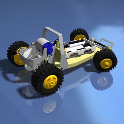 toy dune buggy car 3d 3ds