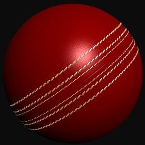 3d model cricket hard ball