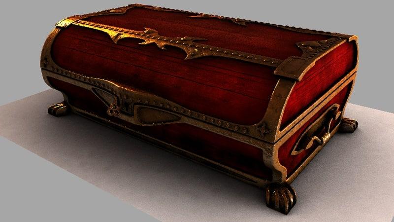 cinema4d antique treasure chest