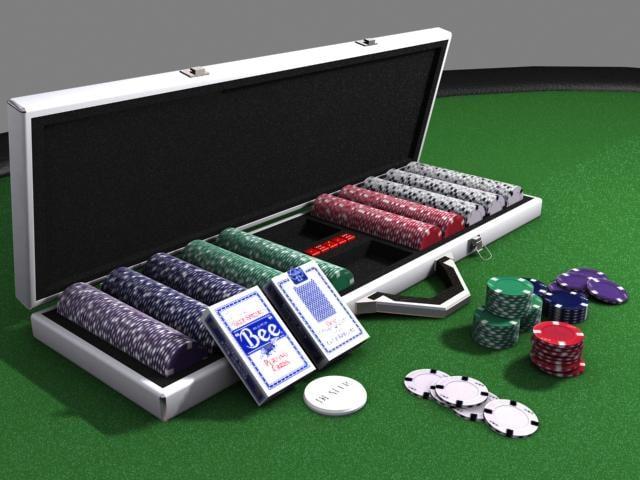 poker chip set 3d model