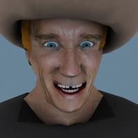 3d man cowboy schwarzenegger