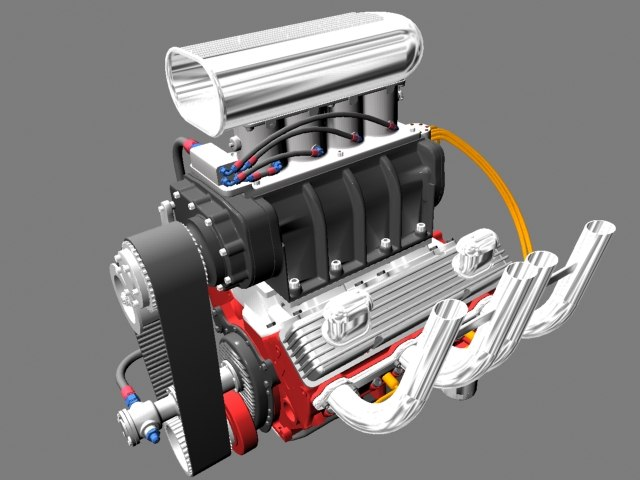 3ds max chevrolet engine