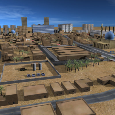 3dsmax arab town